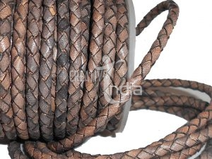 Bolo Round Braided Leather Cord, Leather Braided Cord, Round Braided Leather Cord, Handmade Leather Braided Cord, Leather Braids Cords