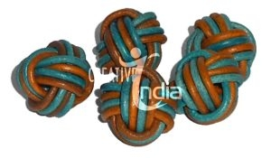 Leather Breads, Round Leather Beads, Braided Leather Beads, Pasted Leather Beads