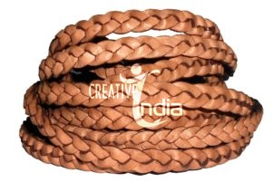Flat Braided Leather Cords, Round Braided Leather Cords