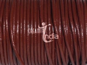 Plain Round Leather Cords Leather Laces Regular Glossy Finish